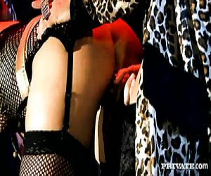 Glamourös blonde Prostituierte träumte, double penetration