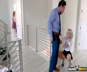 Reifer Immobilienmakler Synthia Fixx verführt harten verheirateten Kunden